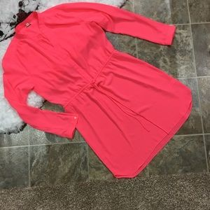 GAP Tie Waist Long Sleeve Dress Size L Sheer